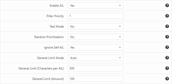 Variable autolinks limit per post