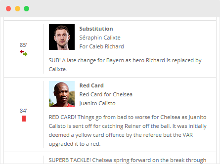 Match Commentary